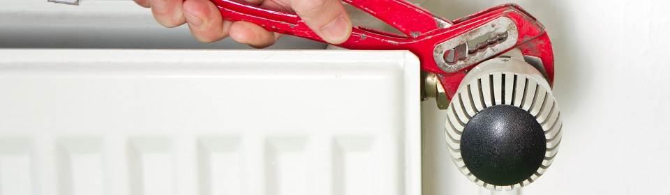 CV onderhoud aan radiator